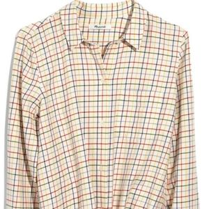 Madewell plaid long sleeve shirt